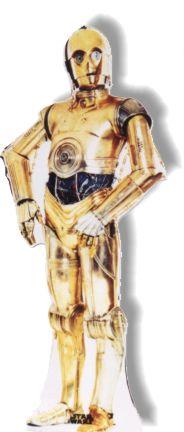 Life Size C3PO Standee