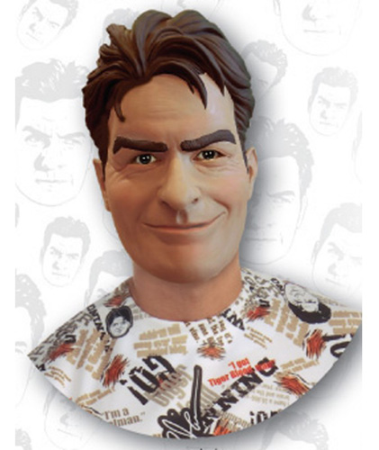 Adult Charlie Sheen Mask - 3/4