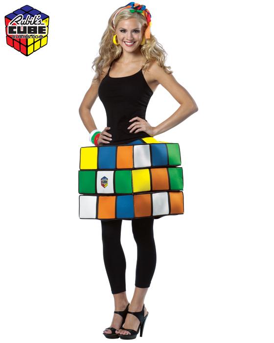 Adult Rubik's Cube Costume - S/M