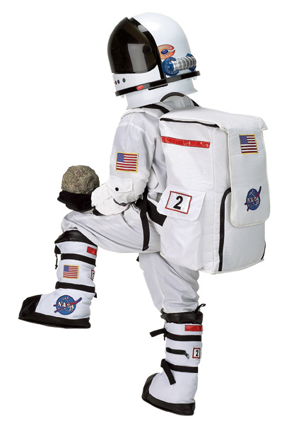 Child Astronaut Suit - White with Embroidered Cap