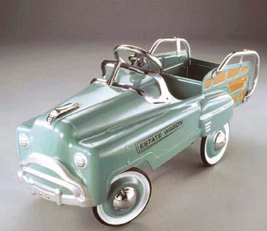 American Retro Green Estate Wagon Pedal Car
