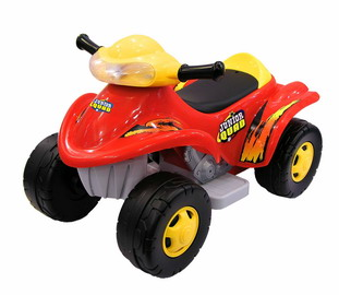 Battery-Powered Junior Quad Ride-On - Red