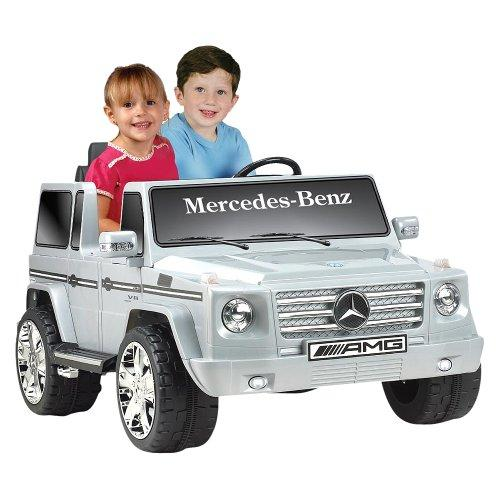 Battery-Powered Mercedes Benz Ride-On - Silver