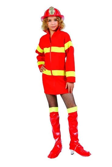 Child Girl Firefighter Costume