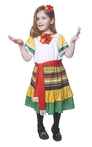 Child Mexican Dancer Costume