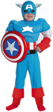 Child Deluxe Captain America Costume