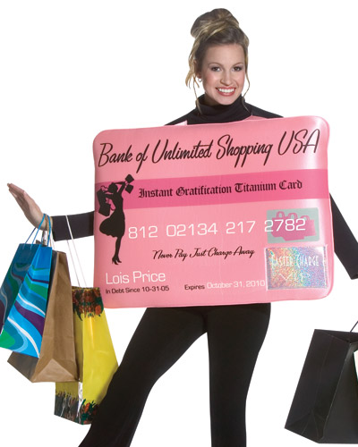 credit card costume miss charge it credit card costume