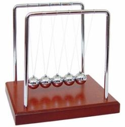 Wood Grain Newton's Cradle