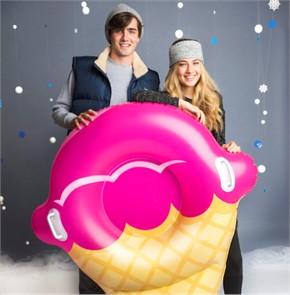 Giant Ice Cream Cone Snow Tube