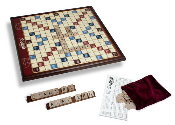 Giant Scrabble Wood Deluxe Edition