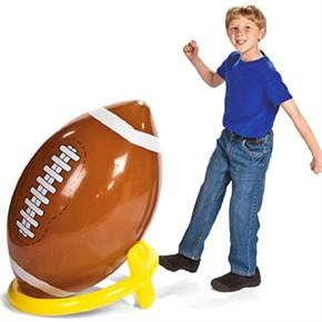 Inflatable Football and Kickoff Tee