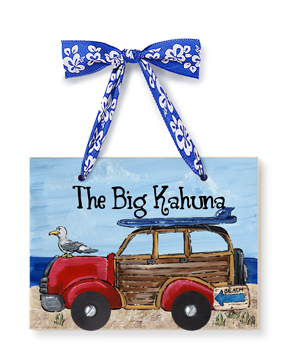 Personalized Dimensional Plaque - Surfer Woody