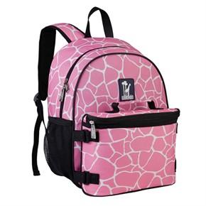 Kids Backpacks, Pink Giraffe Kids Backpack, Kids Book Bags