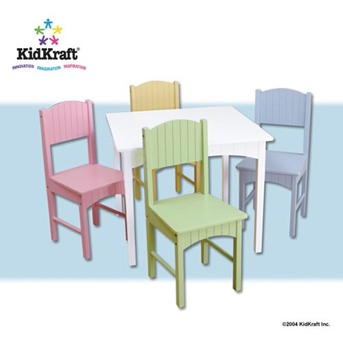Kidkraft Nantucket White Child Table & Chairs