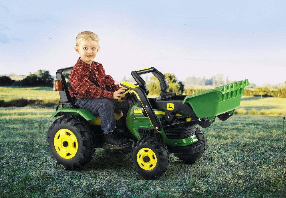 Peg Perego John Deere Chain Driven Ride On Tractor with Loader