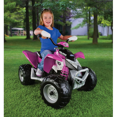 Peg Perego Battery Operated Polaris Outlaw Ride On - Pink