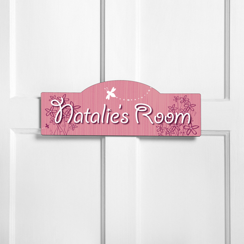 Personalized kids room sign daisy delight kids room signs for Signs for kids rooms