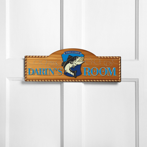 Personalized Kids Room Sign - Gone Fishin'