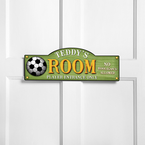 personalized kids room sign kick it up personalized room