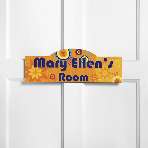 Personalized kids room sign sunny day personalized room signs for Kids room signs