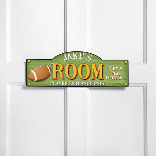 Personalized kids room sign touchdown personalized room signs for Signs for kids rooms