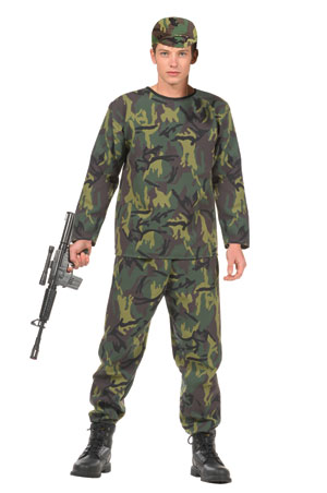 Teen Jungle Soldier Costume